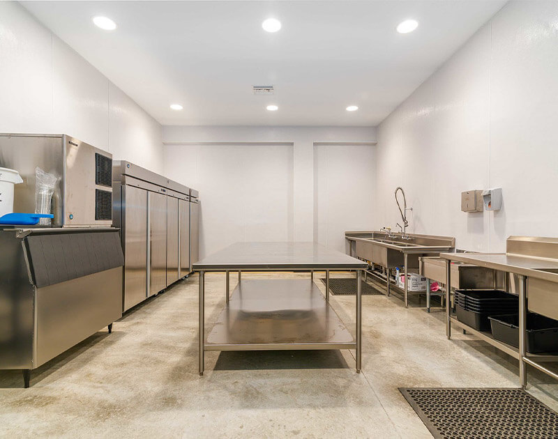 Inside of the kitchen